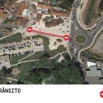 Corte de trânsito na Rua Aníbal Gaspar